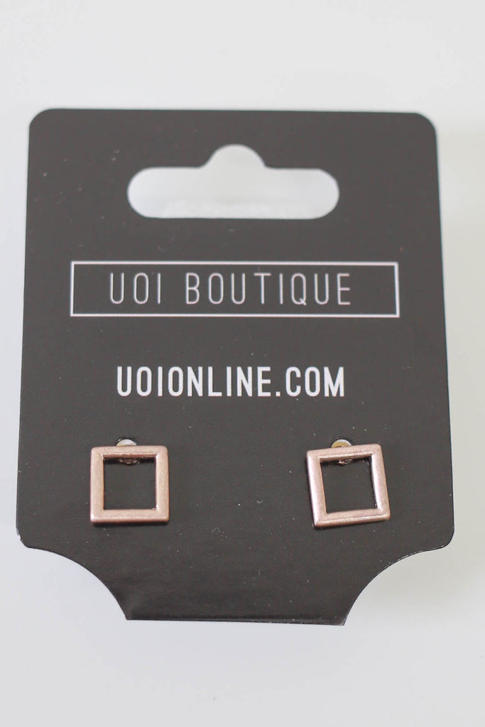 Square Earrings - Online Clothing Boutique