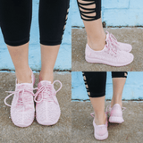 Blush Lace Up Rubber Sole Sneakers Garlic-1