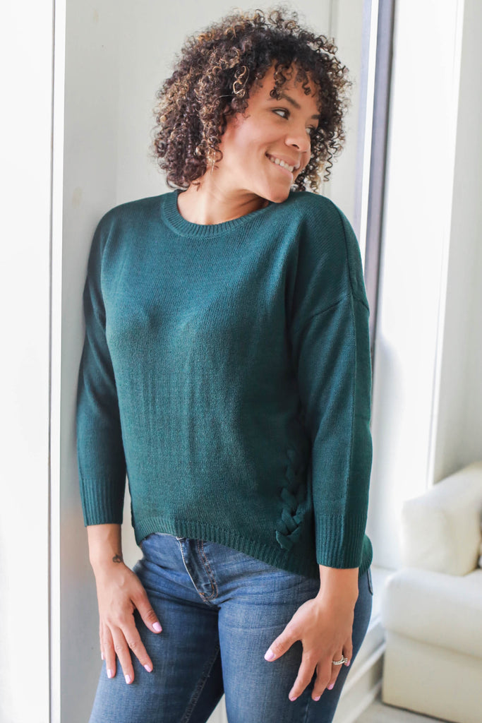 High Low Knit Sweater - Online Clothing Boutique