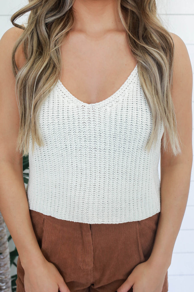 Knit Crop Top - Online Clothing Boutique