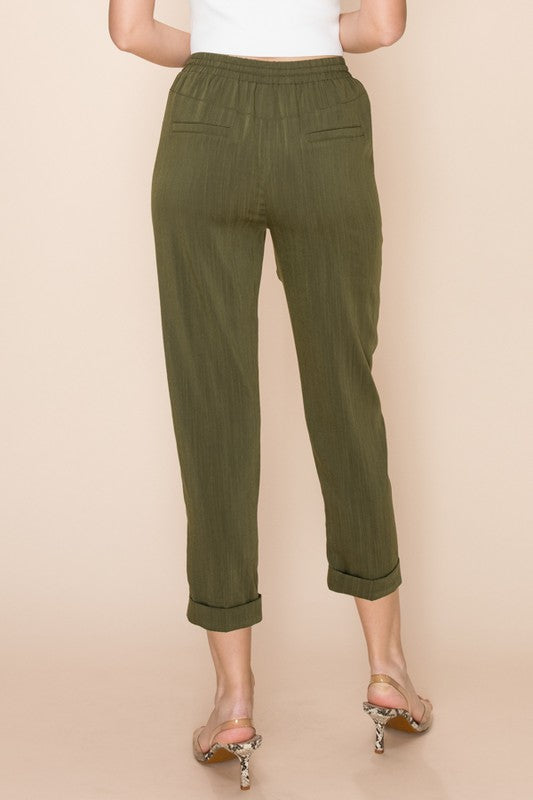 High Rise Cropped Woven Pants | Stylish & Affordable | UOI Online