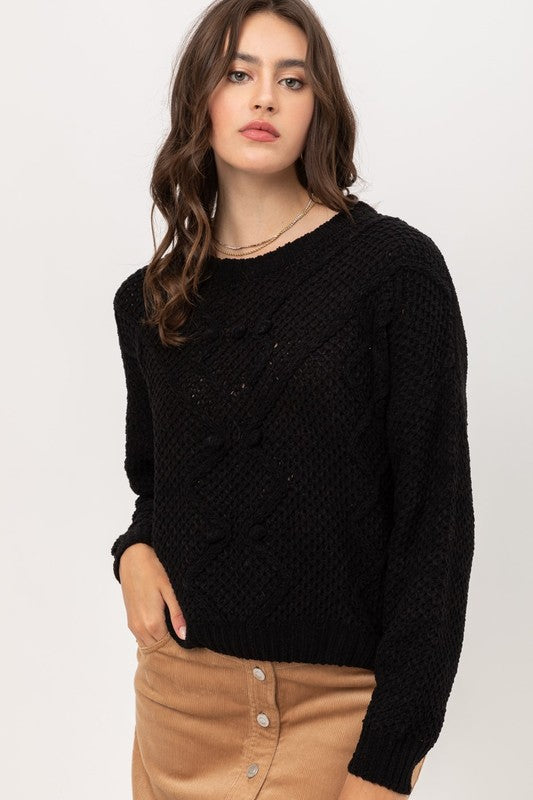 Keep Me Company Sweater - Black