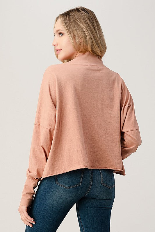 Go Your Own Way Top - Dusty Blush