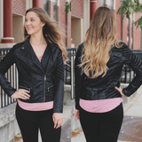 Edgy Black Leather Jacket