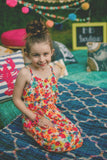 Kids Floral Ruffled Dress