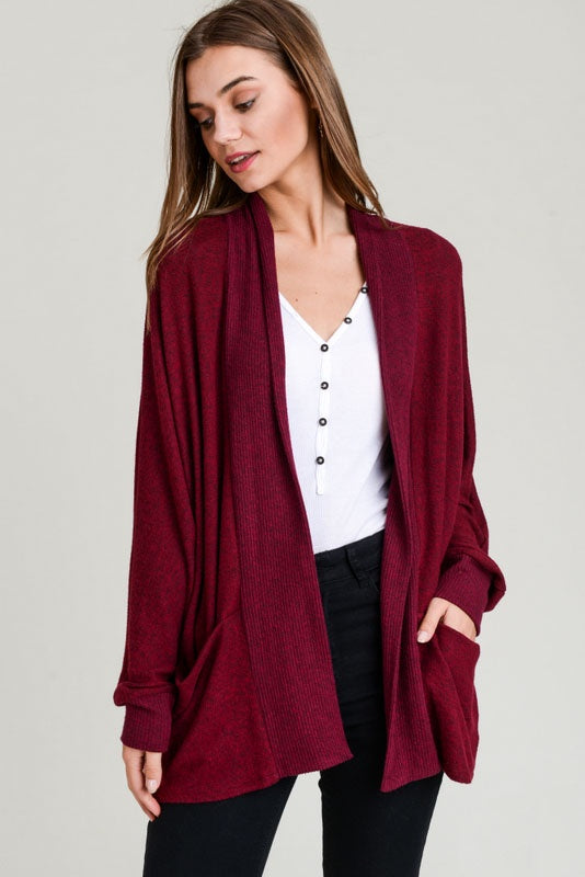 Batwing Hacci Cardigan - Online Clothing Boutique