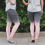 Peach Ombre Active Leggings
