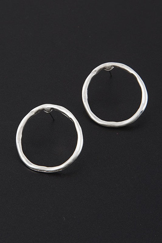 Circle Post Back Earrings - Online Clothing Boutique