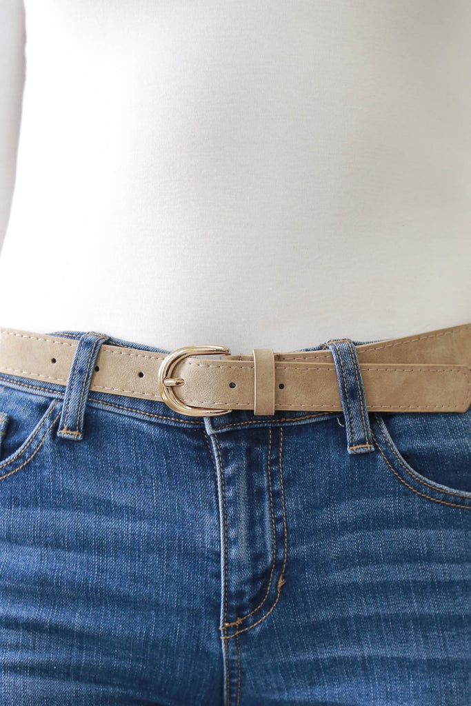 Faux Leather Belt - Online Clothing Boutique