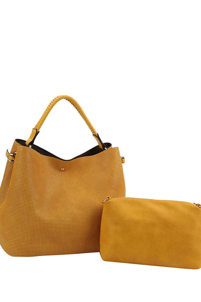 Faux leather 2-In-1 Bag - Online Clothing Boutique