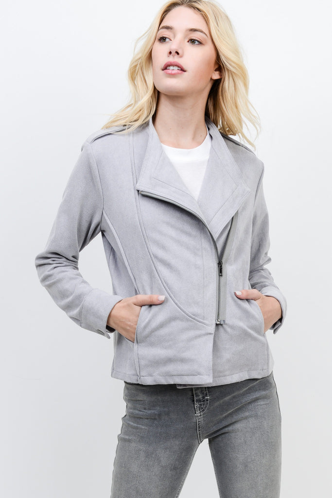 Asymmetrical Moto Jacket - Online Clothing Boutique