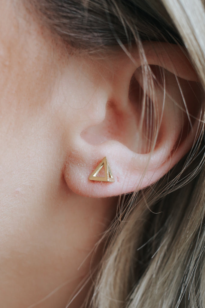Triangle Stud Earrings - Online Clothing Boutique