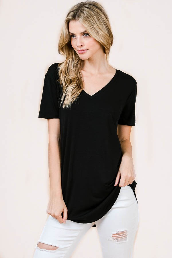 Basic V-Neck Tee - Online Clothing Boutique