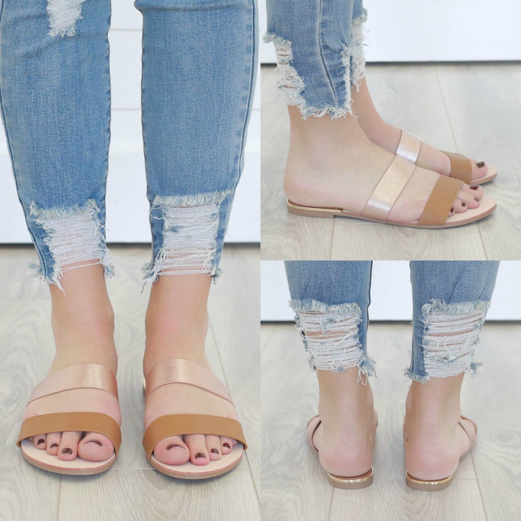 Britt-05 Slip-On Sandals - Online Clothing Boutique