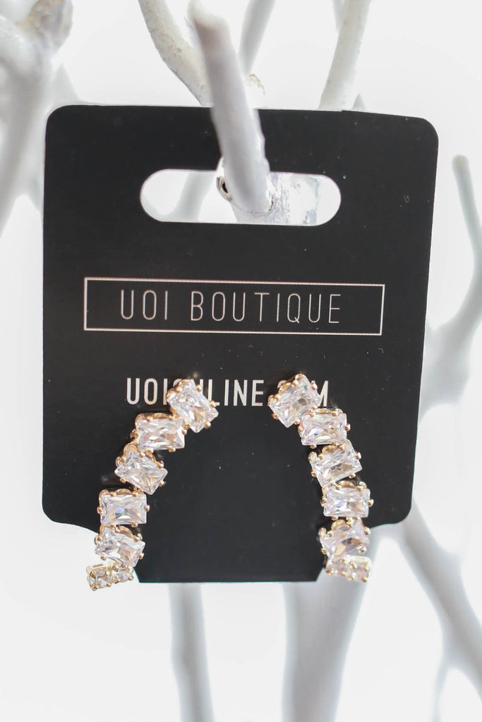 CZ Crawler Earrings - Online Clothing Boutique