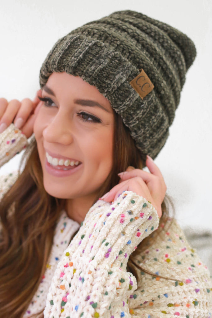 Chenille Beanie - Online Clothing Boutique