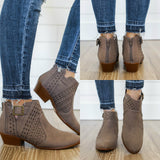 Weekend-07 Western Style Ankle Booties - Online Clothing Boutique