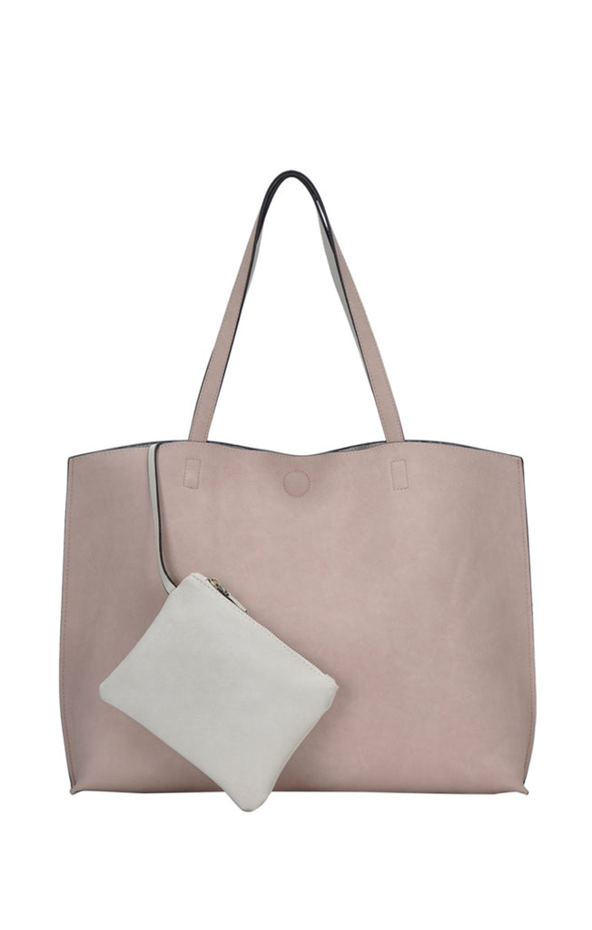 Faux Leather 2 in 1 Tote Bag - Online Clothing Boutique