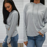 Grey Hooded Sweatshirt - Online Clothing Boutique