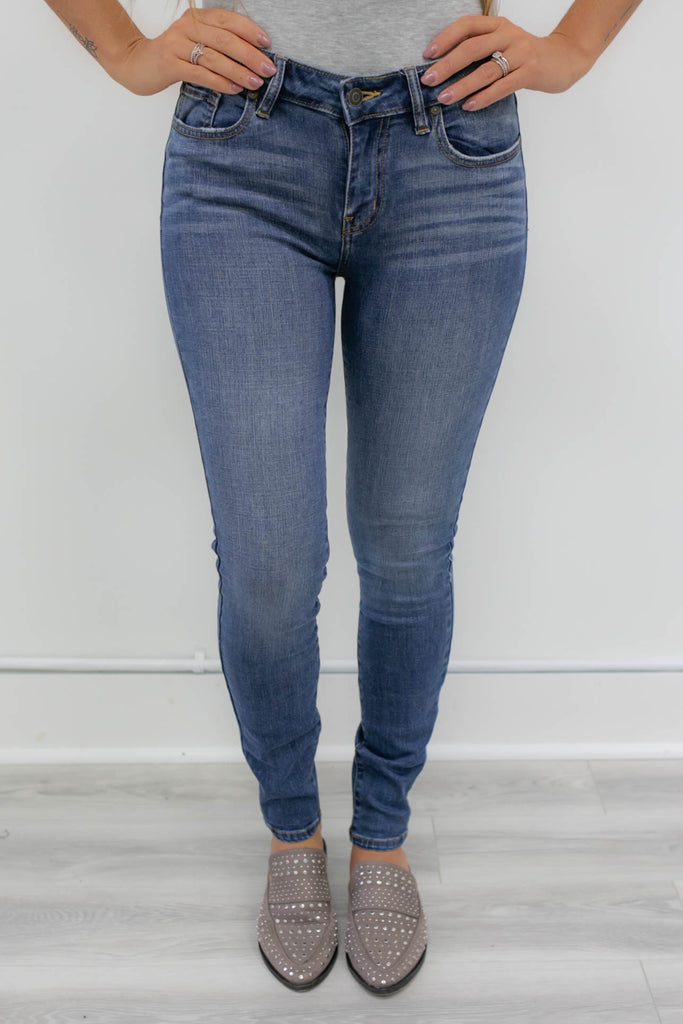 Mid-Rise Non-Distressed Denim - Online Clothing Boutique