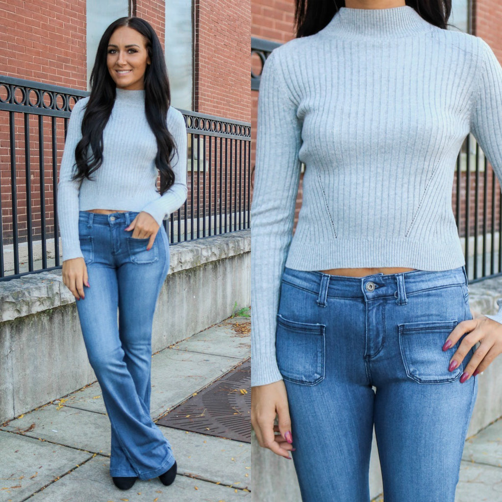 Cropped Sweater - Online Clothing Boutique