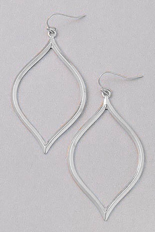 Silver Moroccan Style Dangly Earrings - Online Clothing Boutique