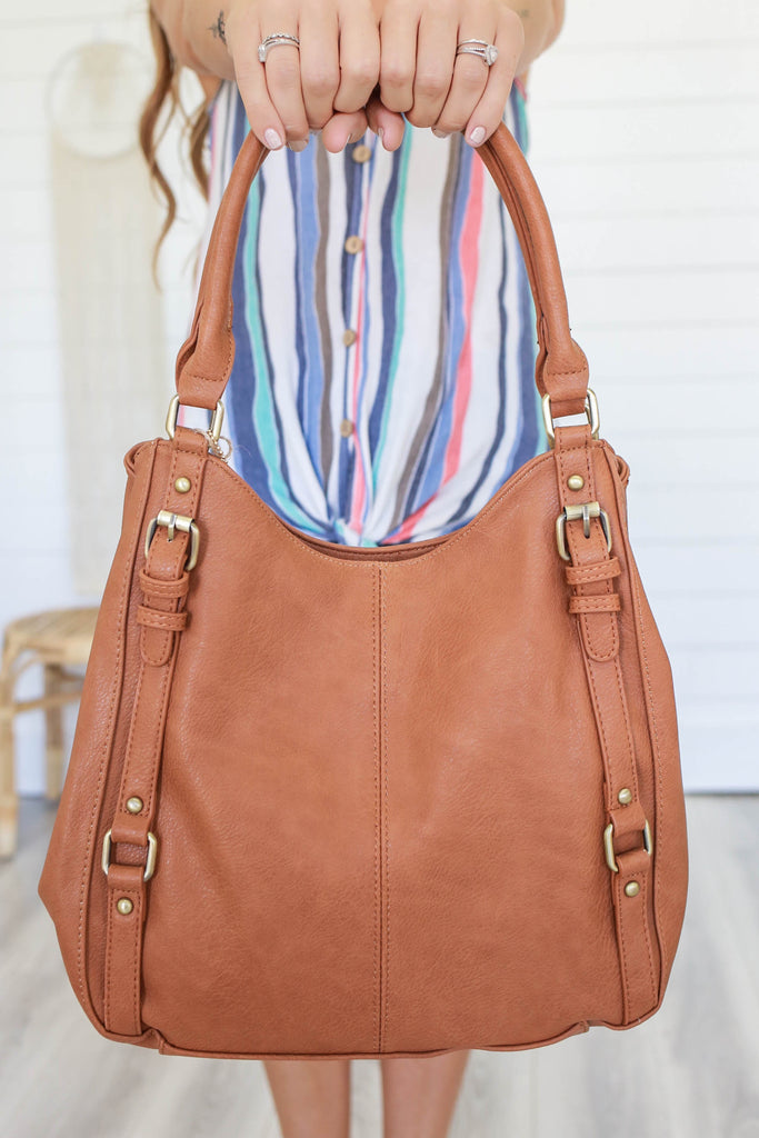 Faux Leather Handbag - Online Clothing Boutique