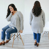 Plus Size High Low V-Neck Top - Online Clothing Boutique