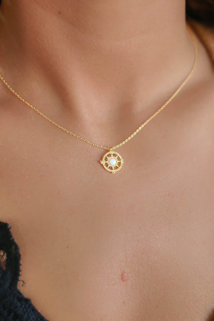Compass Necklace - Online Clothing Boutique