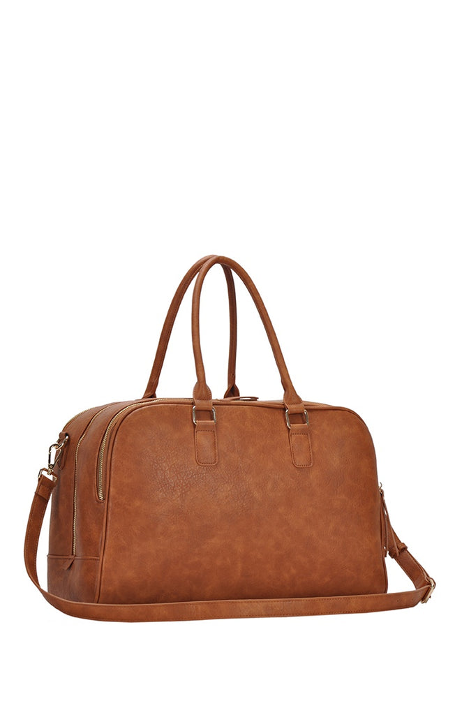 Faux Leather Weekender Bag - Online Clothing Boutique