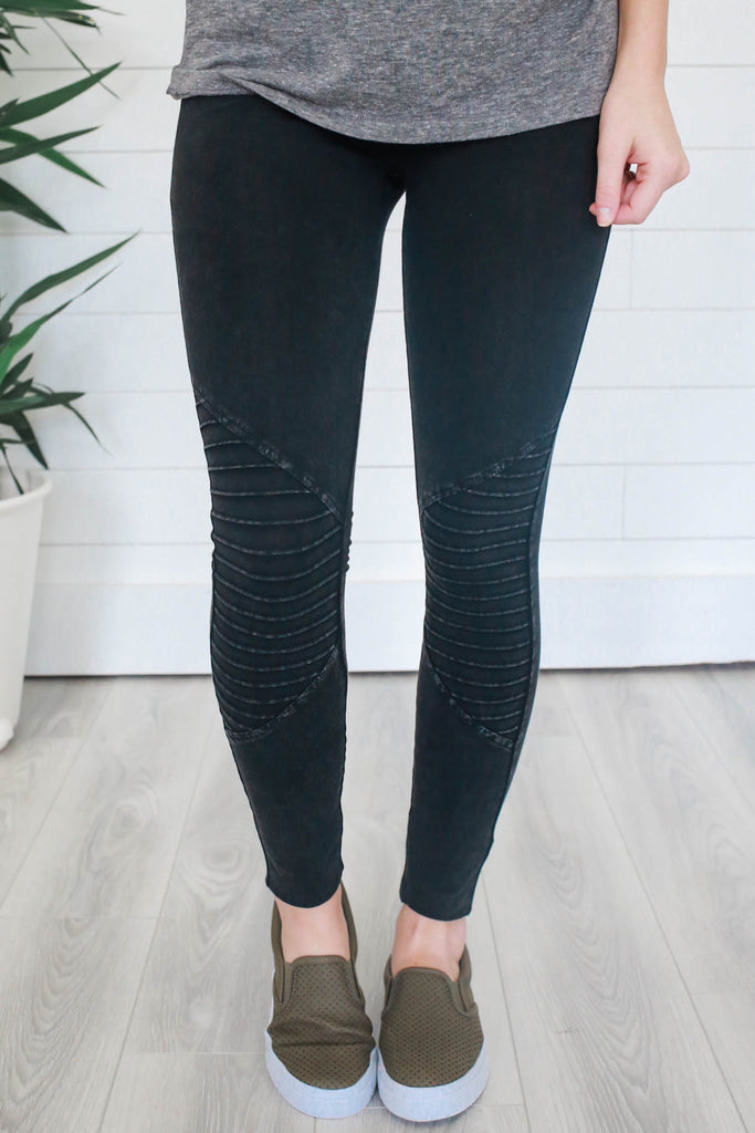 Cotton Moto Leggings - Online Clothing Boutique