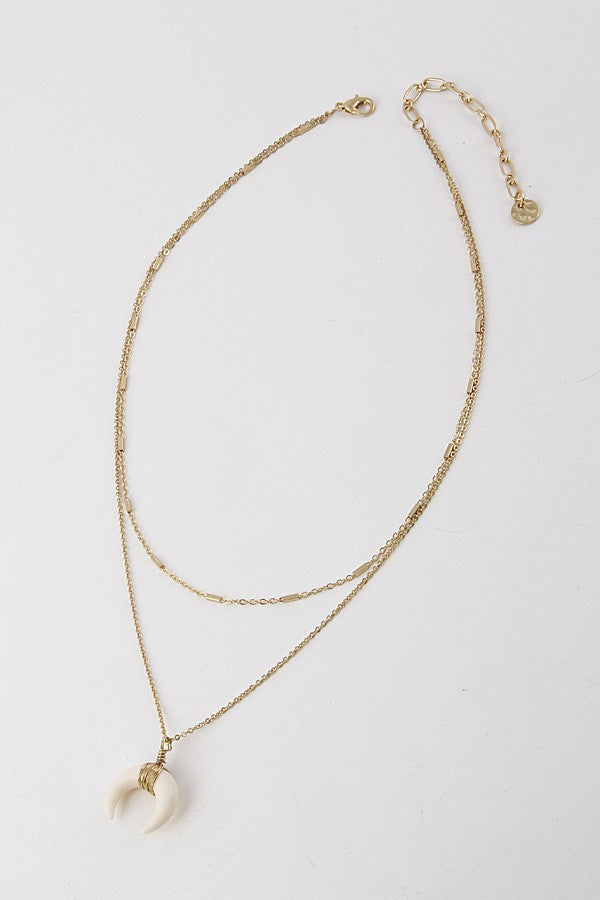 Layered Faux Stone Necklace - Online Clothing Boutique