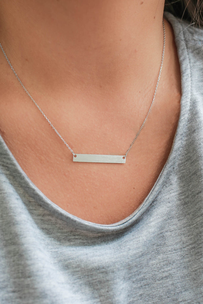 Bar Necklace - Online Clothing Boutique
