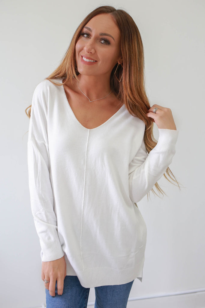 Perfect Ivory Sweater - Online Clothing Boutique
