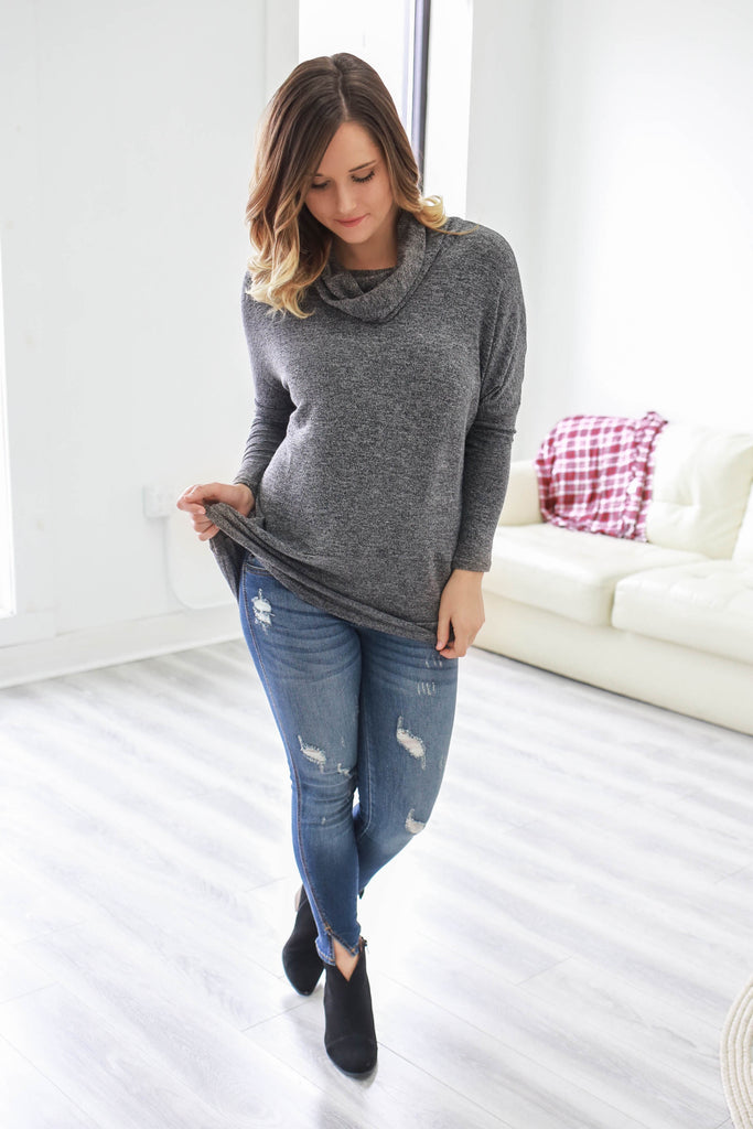 Cowl Neck Tunic - Online Clothing Boutique