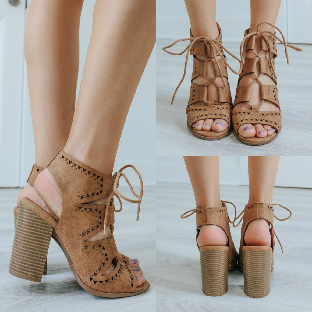 HEIDI-S Lace-Up Heels - Online Clothing Boutique
