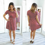 Striped Babydoll Dress - Online Clothing Boutique