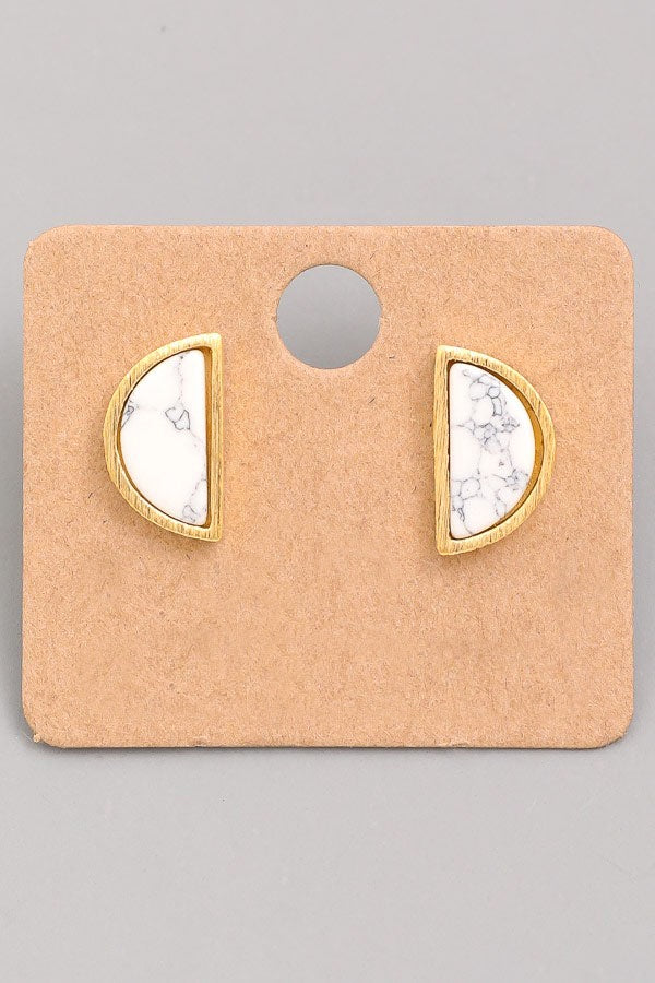 Marble Stud Earrings - Online Clothing Boutique