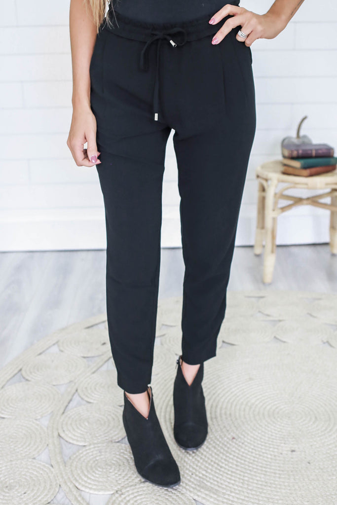 High Waisted Tapered Leg Pants - Online Clothing Boutique