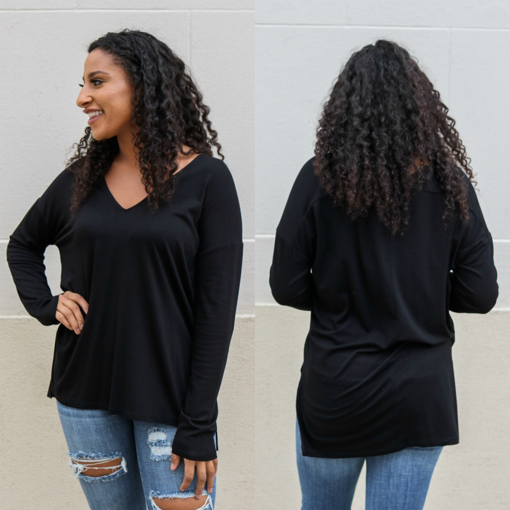 Basic Long Sleeve Top - Online Clothing Boutique