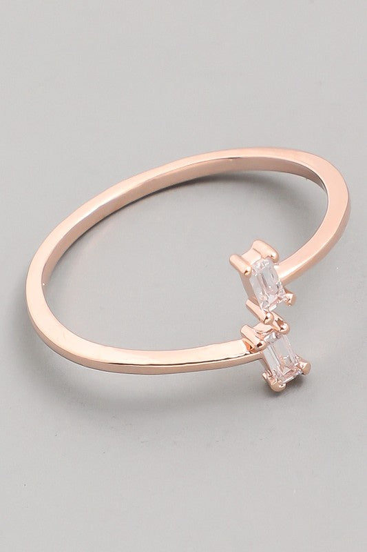 Dainty Cubic Zarconia Ring - Online Clothing Boutique