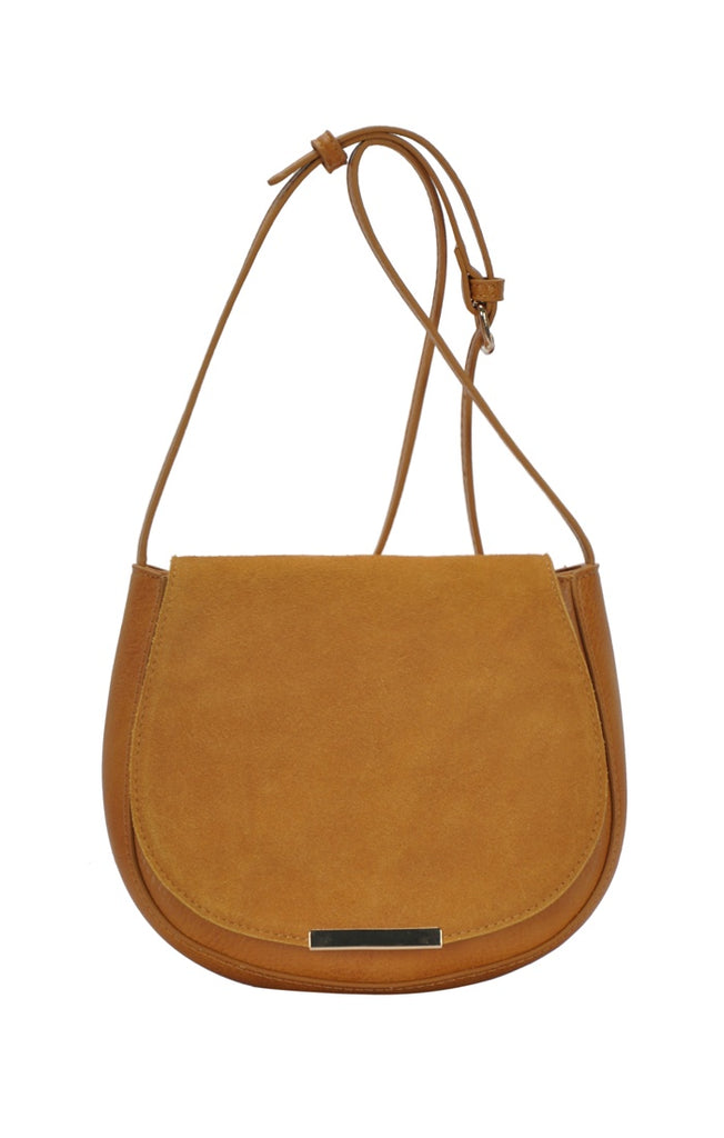 Faux Leather Crossbody Saddle Bag - Online Clothing Boutique