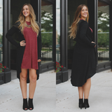 Black Long Sleeve Button Front Cardigan