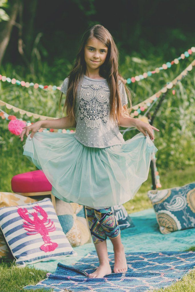 Girl's Mint Tutu Skirt
