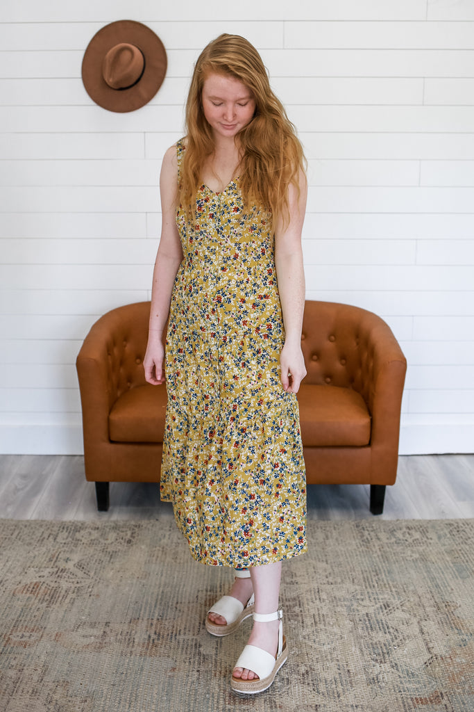 Ditsy Floral Midi Dress | Stylish & Affordable | Stylish & Affordable