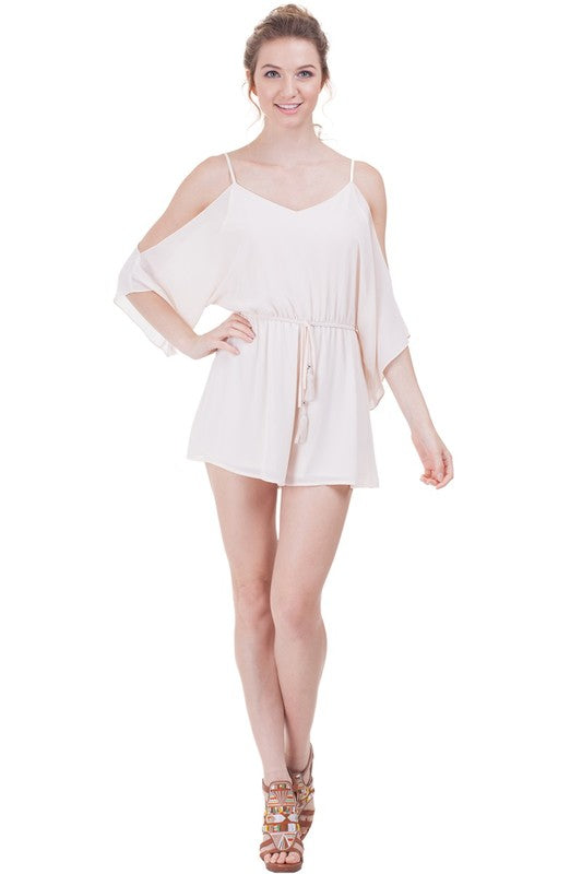 Cold Shoulder Romper - Online Clothing Boutique