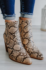 Faux Leather Snakeskin Booties | Stylish & Affordable | UOI Online