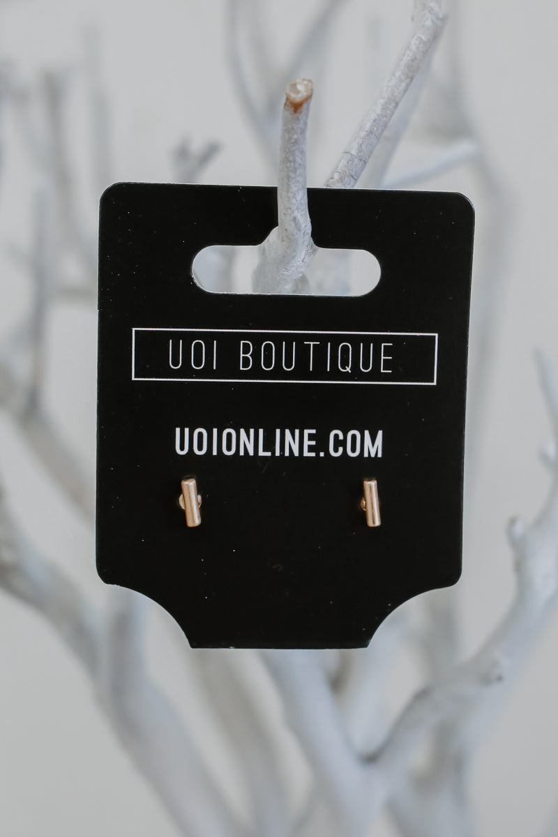 Post Back Bar Earrings | Stylish & Affordable | UOI Online