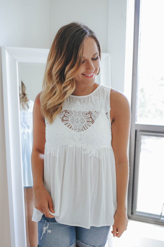 Crocheted Tank Top - Online Clothing Boutique