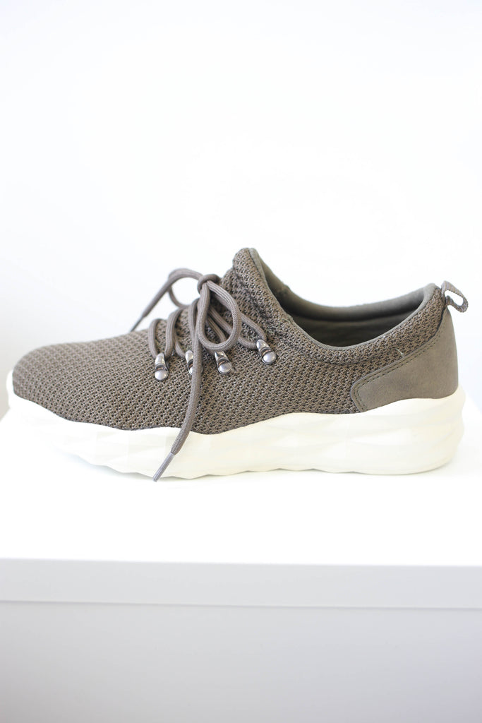 Lace-Up Knit Sneakers - Online Clothing Boutique